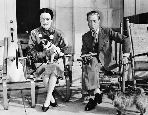 Duke and Duchess of Windsor Sitting Outside