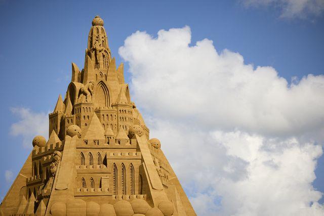 denmark offbeat sandcastle