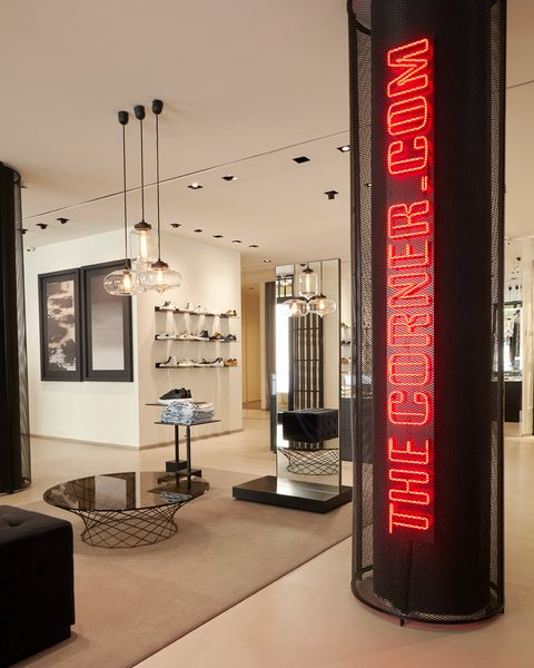 Interior design, Building, Architecture, Room, Floor, Ceiling, Furniture, Column, Advertising, Banner,