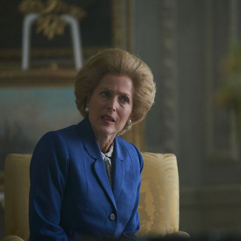 the crown s4 picture shows margaret thatcher gillian anderson filming location wrotham park