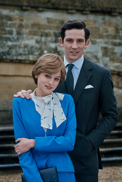 charles diana engagement portrait the crown season 4