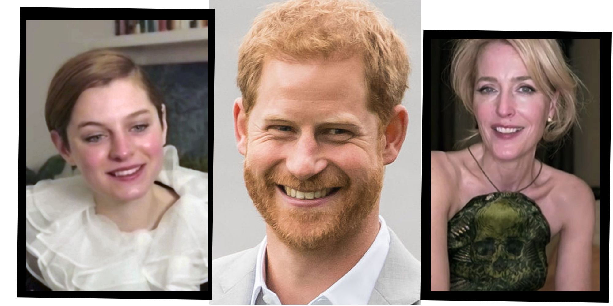 Gillian Anderson, Emma Corrin And More React To Prince Harry's 'The Crown' Review