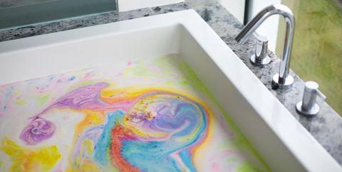 Visual arts, Watercolor paint, Sink, Art, Painting, Paint,