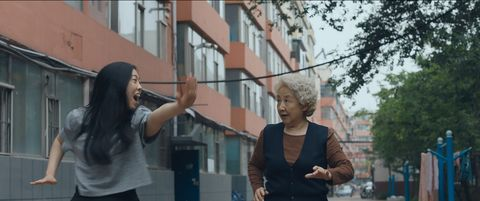 Awkwafina and Shuzhen Zhao in The Farewell