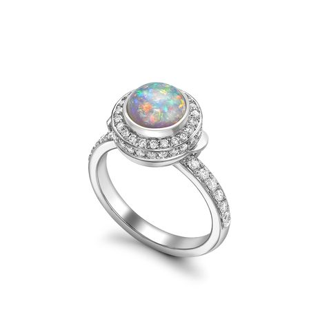 Jewellery, Ring, Fashion accessory, Engagement ring, Gemstone, Body jewelry, Opal, Platinum, Turquoise, Pre-engagement ring,
