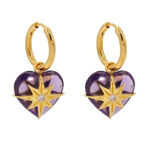 theodora warre amethyst and gold earrings