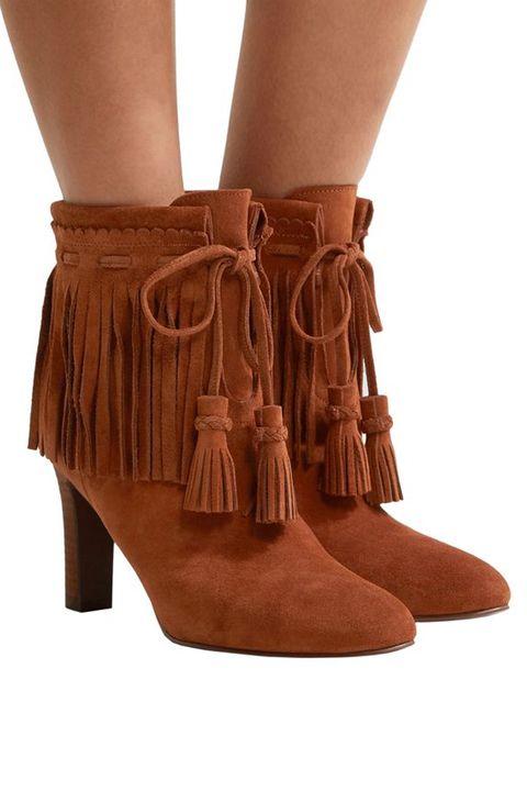 Footwear, Tan, Shoe, Leather, Brown, High heels, Boot, Suede, Leg, Beige,
