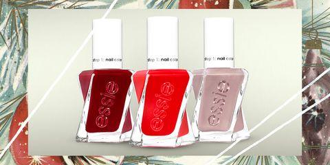 Nail polish, Red, Nail care, Cosmetics, Pink, Product, Gloss, Material property, Nail, Tints and shades,