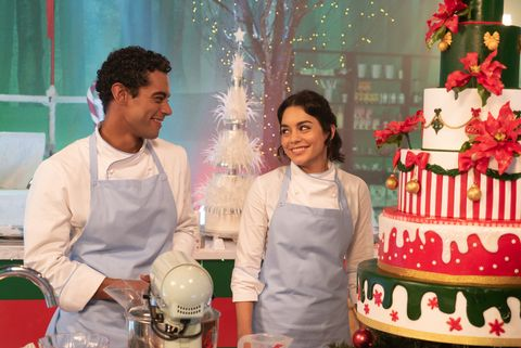 Vanessa Hudgens and Nick Sagar in The Princess Switch
