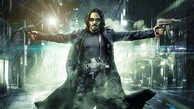 keanu reeves in matrix 4 poster, warner bros