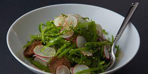 Snow Pea and Radish Salad with 300x150