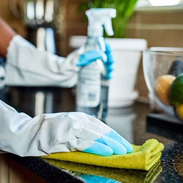 cleaning up at home