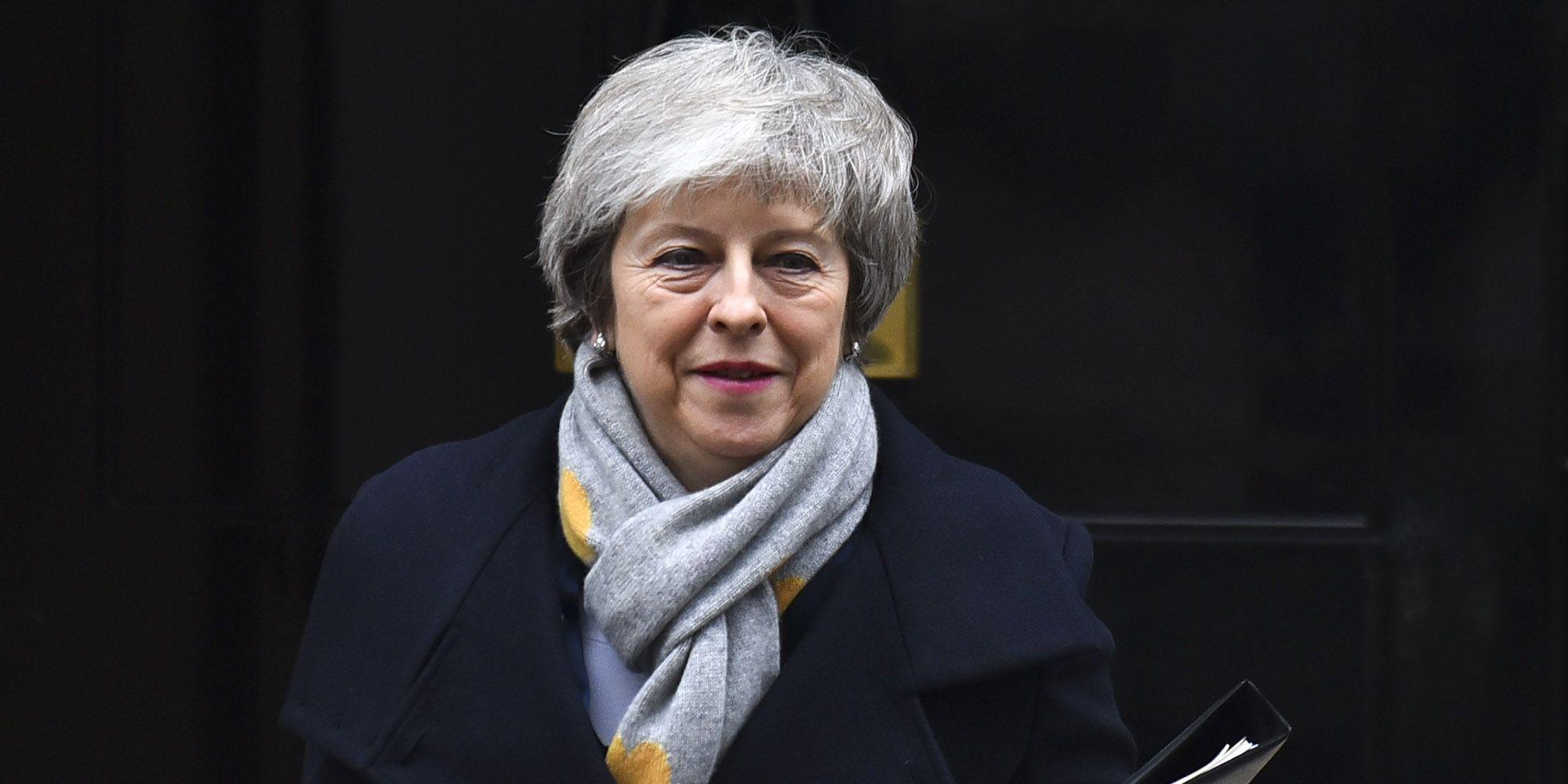 Theresa May leves 10 Downing Street