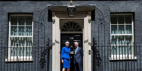 Theresa May is Prime Minister again at Downing Street