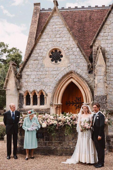 英國伊莉莎白女王和菲利普王子參加碧翠絲公主的婚禮