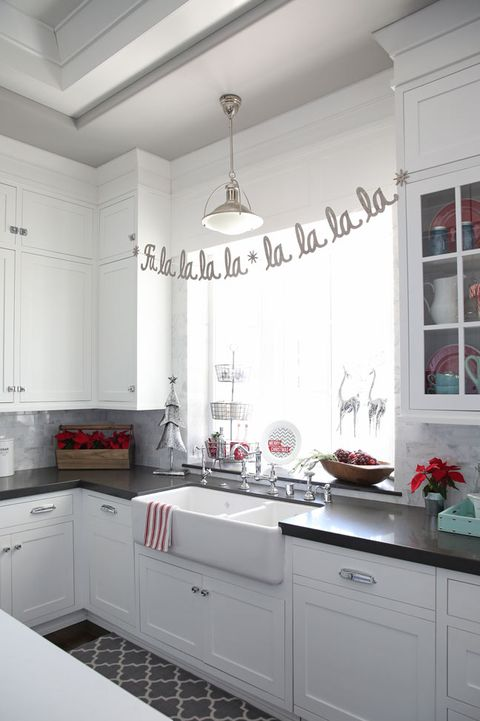 63e0cc2b3 Banner - Christmas Decoration Ideas. The Sunny Side Up Blog. Sprinkle In Silver  and Red