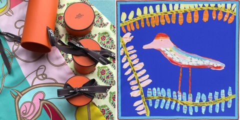 HERMÈS, 台灣限量版絲巾, 愛馬仕, 絲巾義賣, 八色鳥絲巾, 周帝全, 絲巾創作,HERMES,愛馬仕絲巾