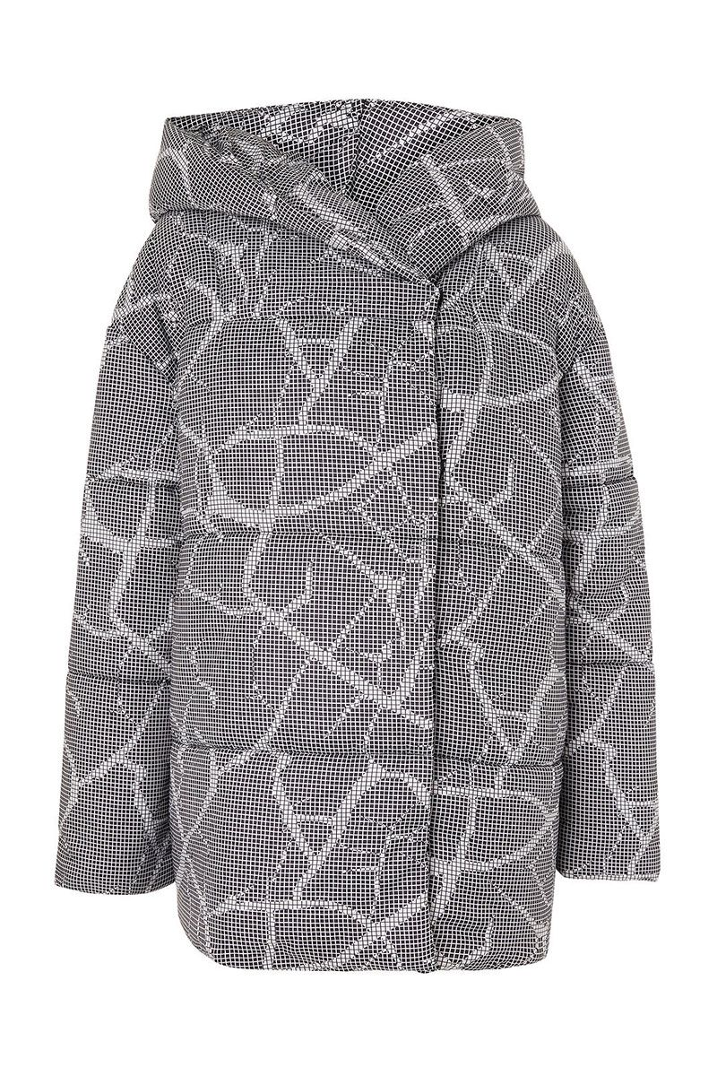 Crack effect grey thick puffer jacket