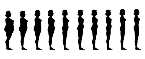 thin to fat women