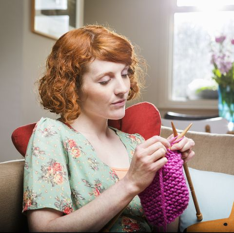 things to do at home - knitting