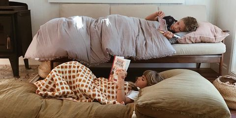 things to do on a rainy day - two children reading