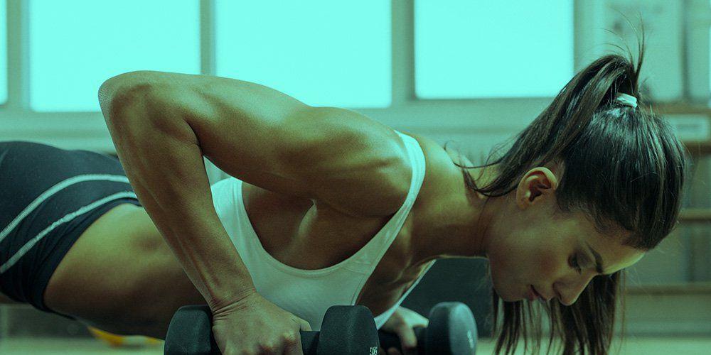 Fitness-Routine verlieren Gewicht und Ton