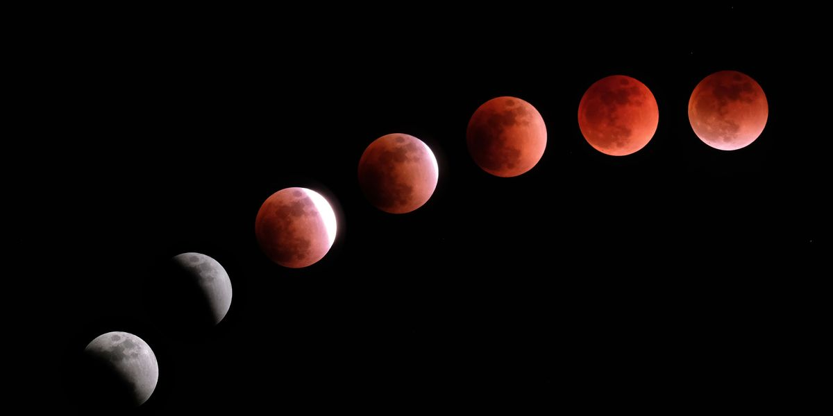 Pictures of the blood moon tonight — 2