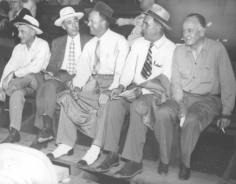 JAN 17 1948; This group of major league scouts, all former big league players themselves, were on ha
