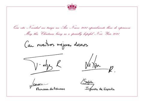 Tarjetas de Navidad Real de España 2020