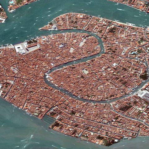 Satellite Image of Venice, Italy