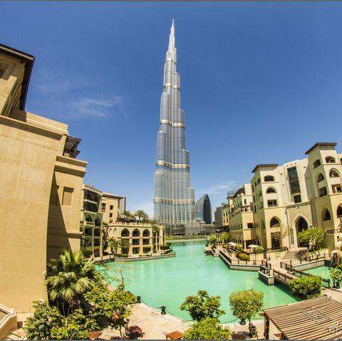 Downtown Dubai overlooking Burj Khalifa