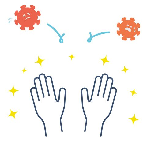 this is an illustration of how beautiful hands do not attract coronavirus vector image