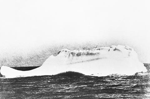 One of the icebergs is said to have scraped off and then caused the Titan to sink
