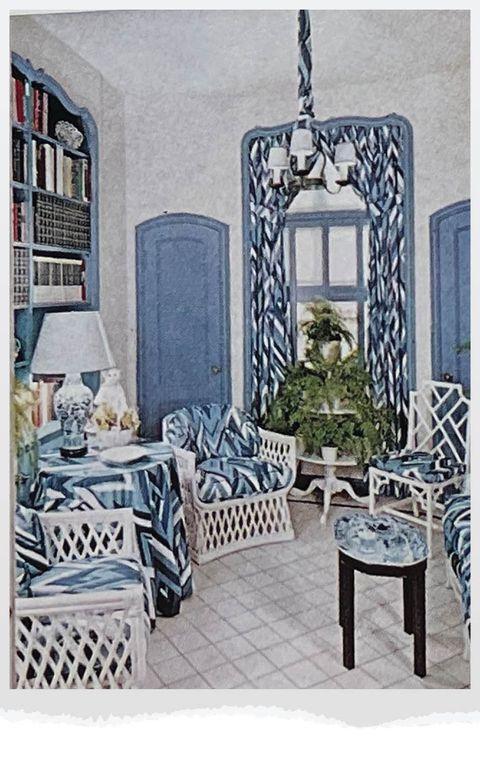 blue living area
