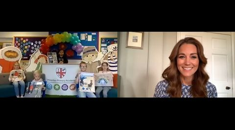 the duchess of cambridge leads an online assembly for the oak national academy