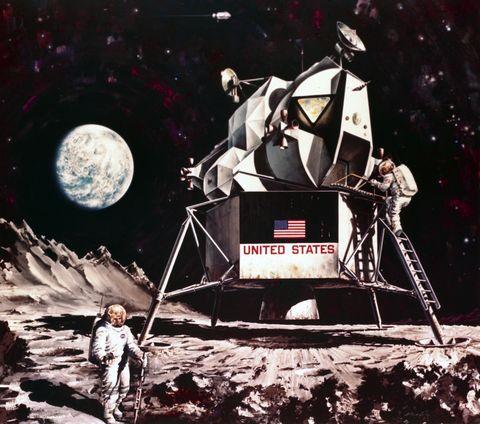 Artist impression of the Apollo Lunar Module, 1968.