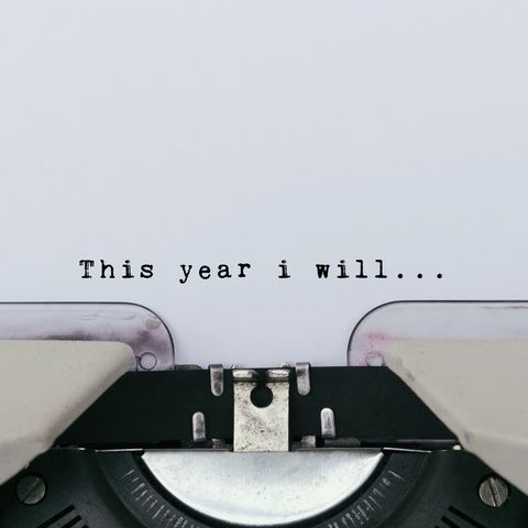 This year i will text on a vintage typewriter