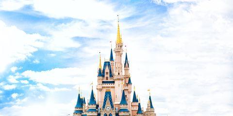 Walt disney world, Blue, Landmark, Spire, Sky, Amusement park, Park, World, Recreation, Architecture,