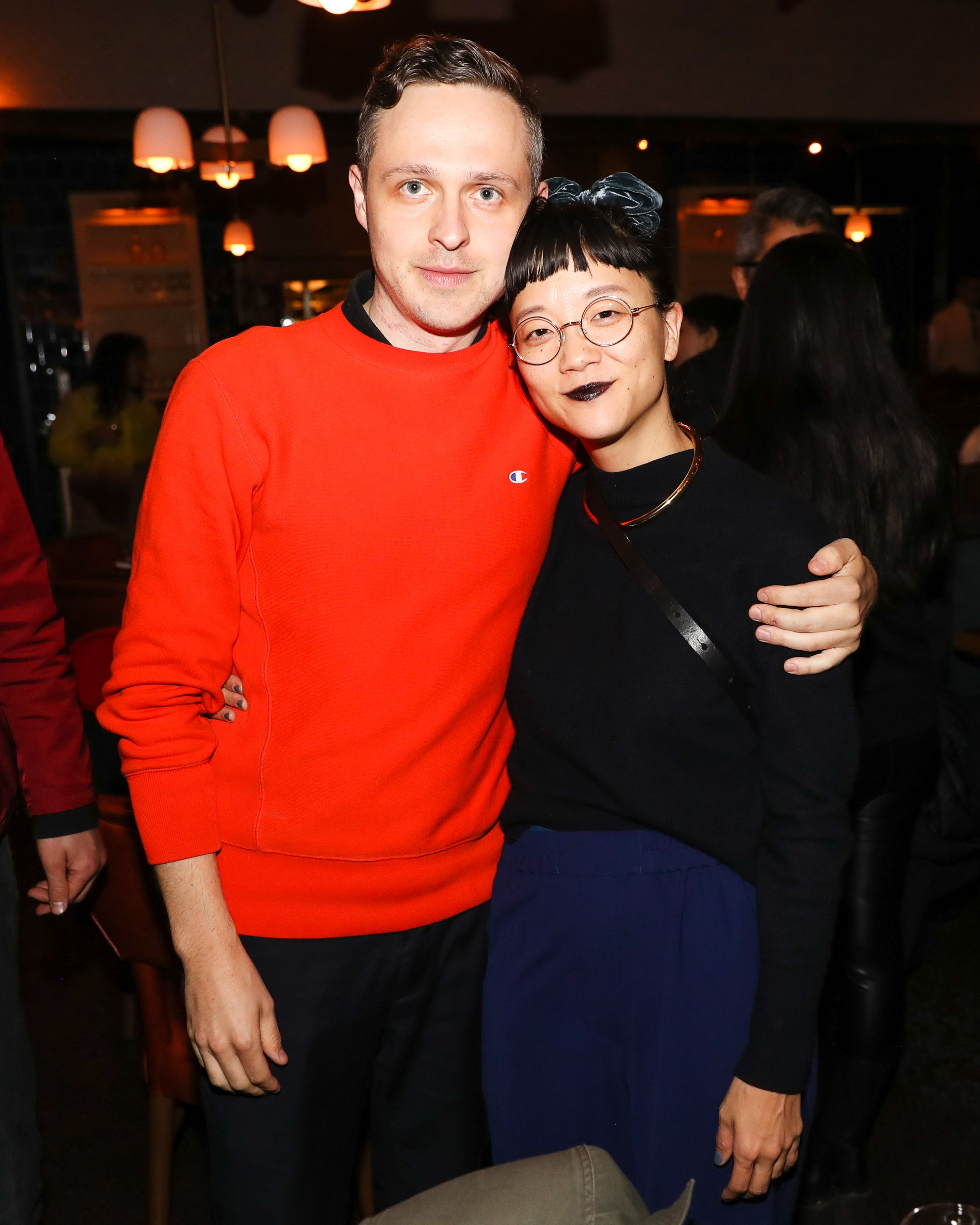 Thomas Mader and Christine Kim Thomas Mader and Christine Kim celebrate Korakrit Arunanondchai, boychild, and Alex Gvojic's inclusion in the 58th Venice Biennale and the 2019 Whitney Biennial with a dinner at The Standard New York on May 13.