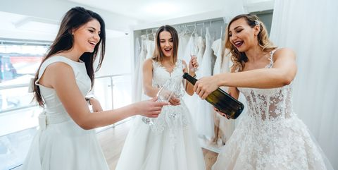 Three Brides Sharing Happy Moments