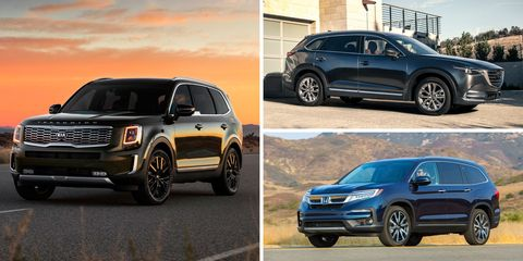 Best 3rd Row Suv 2017 >> The Best Mid Size Three Row Crossovers And Suvs Ranked