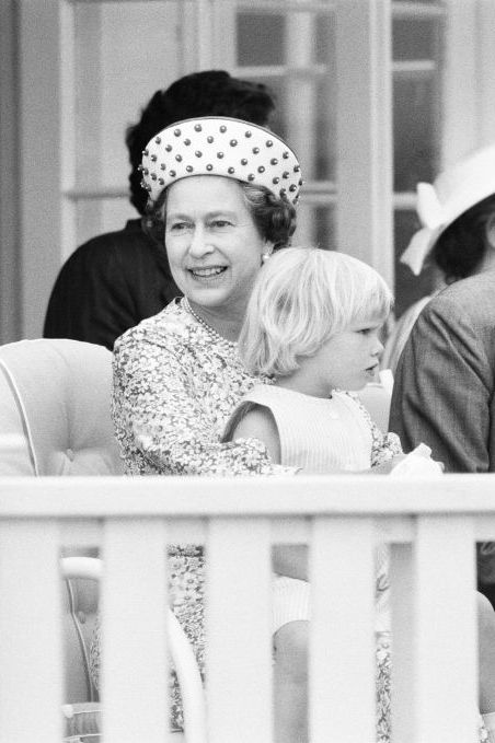 zara phillips watching the polo at windsor 1991