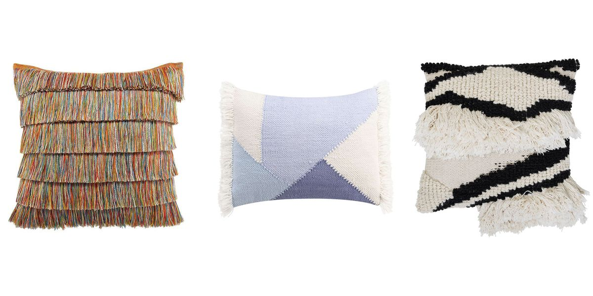 20 Fringe Throw Pillows That Make The Funkiest Living Room Decor Decorative Throw Pillows