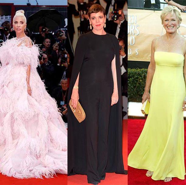 Red carpet, Dress, Carpet, Gown, Clothing, Fashion model, Premiere, Flooring, Shoulder, Fashion,