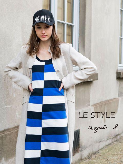 Clothing, White, Blue, Street fashion, Sleeve, Fashion, Outerwear, Cobalt blue, Dress, Coat,