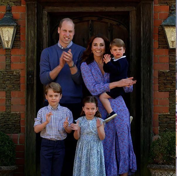 ウィリアム王子、キャサリン妃、ジョージ王子ー、シャーロット王女、ルイ王子、ヨランダ・ハディッド、ジジ・ハディッド、ベラ・ハディッド、アンウォー・ハディッド