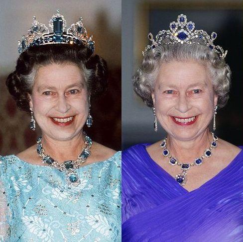 エリザベス女王 ジュエリー ティアラ 宝石 ネックレス イヤリング ロイヤル