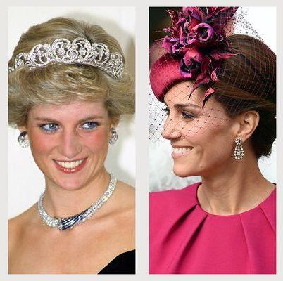 ロイヤルファミリー ダイヤモンド ジュエリー ネックレス イヤリング ティアラ ブローチ エリザベス女王 メーガン妃 キャサリン妃 ダイアナ妃