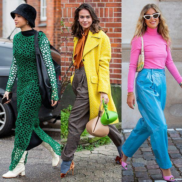 ネオン カラー 色 ブライト パステル プリント ボールド 大胆 着こなし ストリートスナップ ファッション