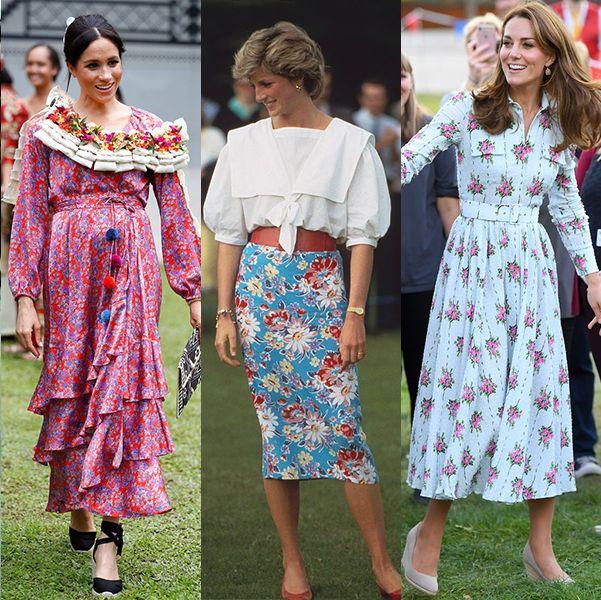 エリザベス女王から亡きダイアナ妃、ユージェニー王女&ベアトリス王女姉妹、キャサリン妃にいたるまで、ロイヤルファミリーの女性陣はフローラルドレスがとってもお似合い。梅雨を迎えるこの時期、華やか&爽やかな気分になれる、ロイヤルファミリーによるアイコニックなフローラルルックを、改めて振り返ってみよう。
